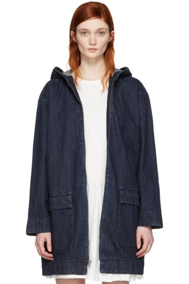 Edit - Blue Cocoon Hooded Jacket