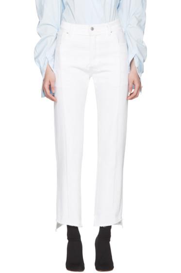 Vetements - White Levi's Edition Classic Reworked Denim Jeans