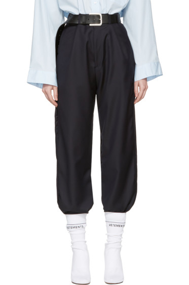 Vetements - Navy Brioni Edition Cropped Tailored Trousers