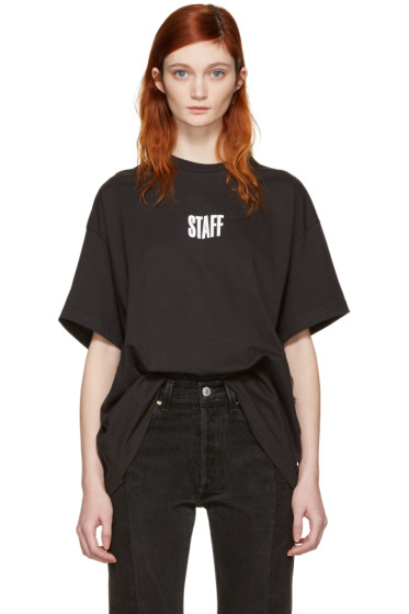 Vetements - Black Hanes Edition Quick Made Oversized T-Shirt