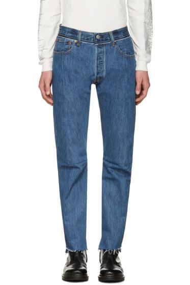 Vetements - Blue Levi's Edition Classic Reworked Denim Jeans