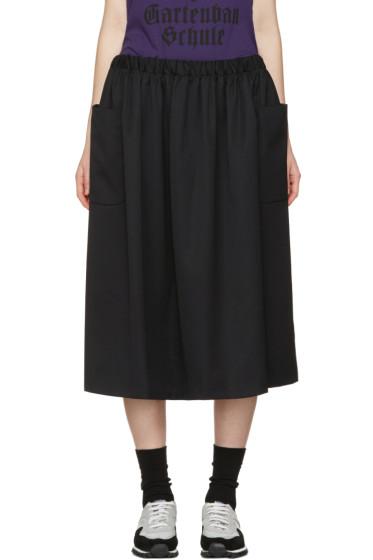 Comme des Garçons Girl - Black Wool Pocket Skirt