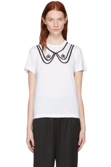 Comme des Garçons Girl - White Collar Print T-Shirt