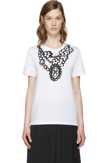 Comme des Garçons Girl - Black Flower Necklace T-Shirt