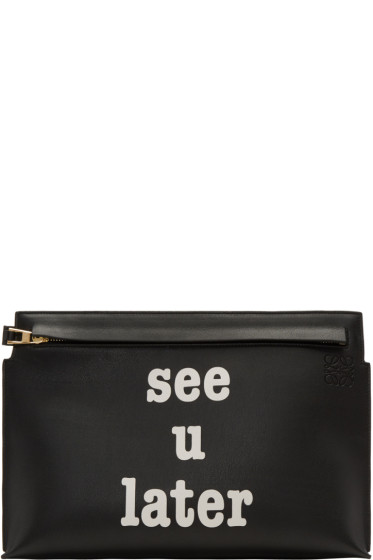 Loewe - Black 'See U Later' T Pouch