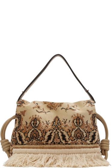 Loewe - Beige Flamenco Flap Tapestry Bag