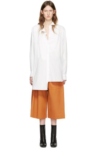 Loewe - White Cotton Asymmetric Shirt