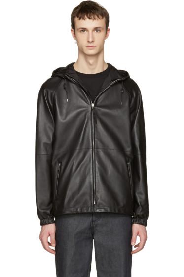 Loewe - Reversible Black Lambskin Hooded Jacket