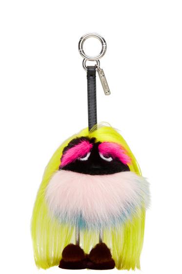 Fendi - Yellow Fur Mum Keychain