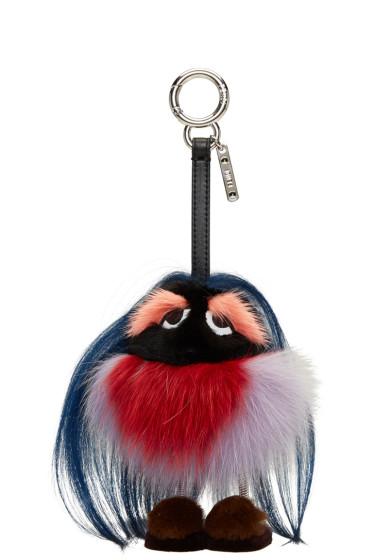 Fendi - Navy Fur Mum Keychain