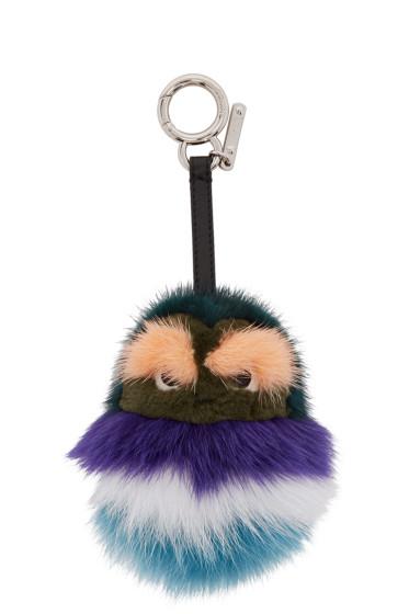 Fendi - Green Fur Kid Keychain