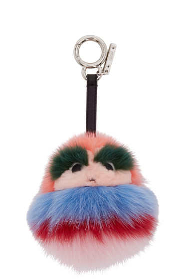 Fendi - Pink Fur Kid Keychain