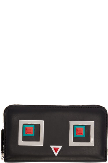 Fendi - Black Square Eyes Wallet