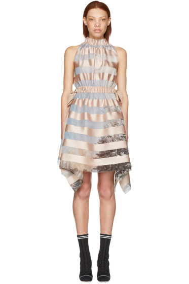 Fendi - Pink Royal Garden Halter Dress