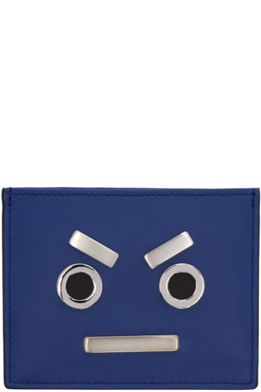 Fendi - Blue 'Fendi Faces' Card Holder