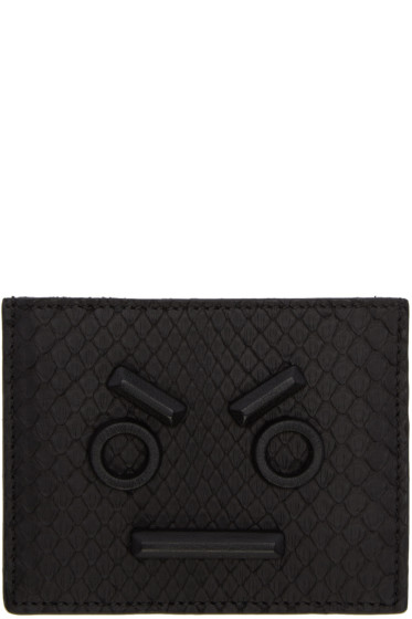 Fendi - Black Python 'Fendi Faces' Card Holder