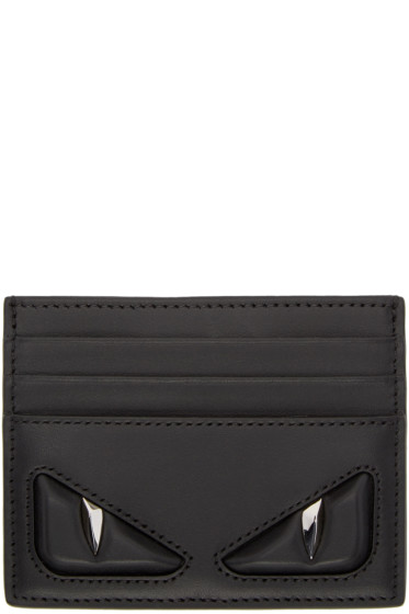 Fendi - Black 'Bag Bug' Card Holder