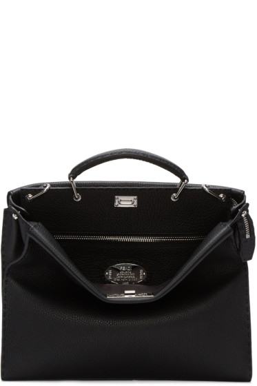 Fendi - Black Peekaboo Briefcase