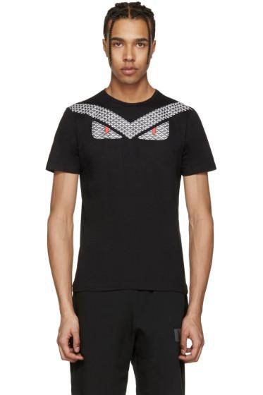 Fendi - Black 'Bag Bugs' T-Shirt