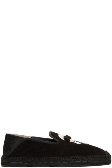 Fendi - Black Suede Convertible Karlito Espadrilles