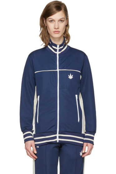 Palm Angels - Navy Weed Track Jacket
