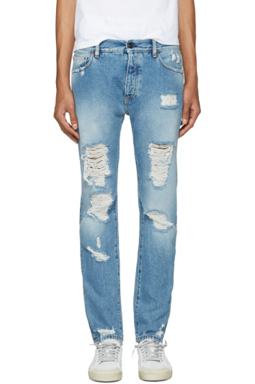 Palm Angels - Blue Ripped Jeans