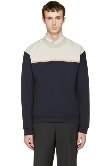 Wooyoungmi - Navy Colorblock Pullover
