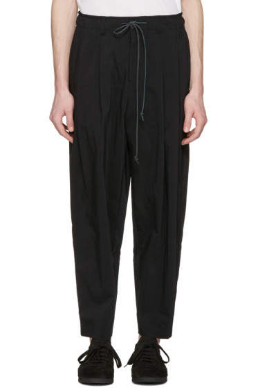 Attachment - Black Drawstring Trousers