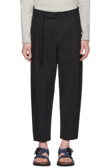 Attachment - Navy Cotton Belted Trousers