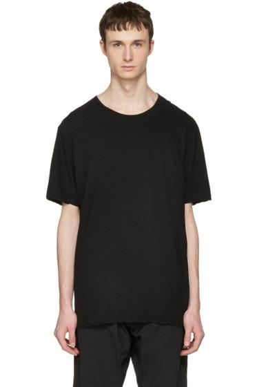 Attachment - Black Slight Oversized T-Shirt