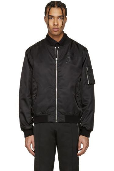 Moschino - Black Nylon Bomber Jacket