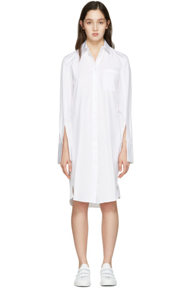Atea Oceanie - White Wide Cuff Dress