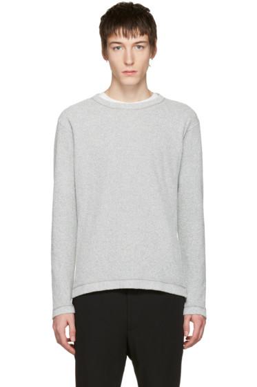 Issey Miyake Men - Grey Bouclé Pullover