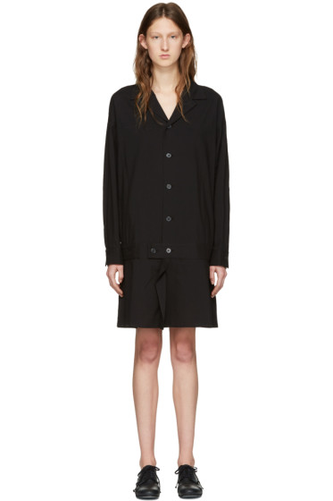 Y's - Black Flared Shirt Dress