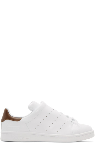 Y's - White adidas Originals Edition Diagonal Stan Smith Sneakers