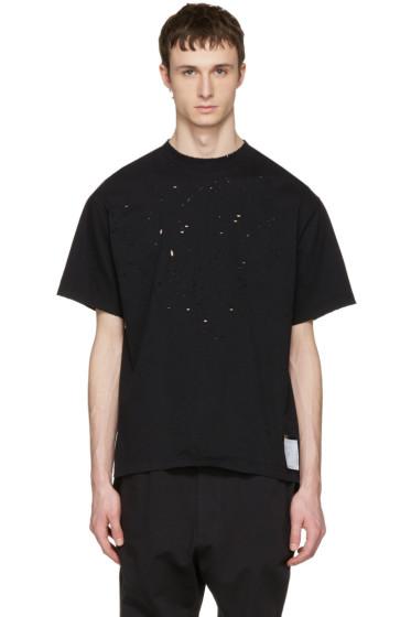 Satisfy - Black Moth Eaten T-Shirt