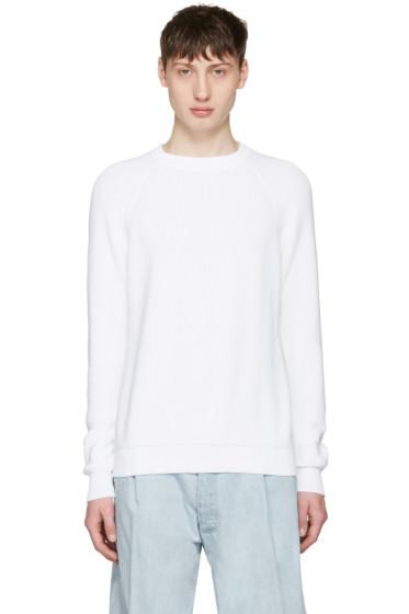 Sunnei - White Ribbed Sweater