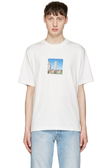 Sunnei - White Pisa Tower T-Shirt