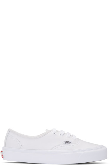 Vans - White Leather OG Authentic LX Sneakers
