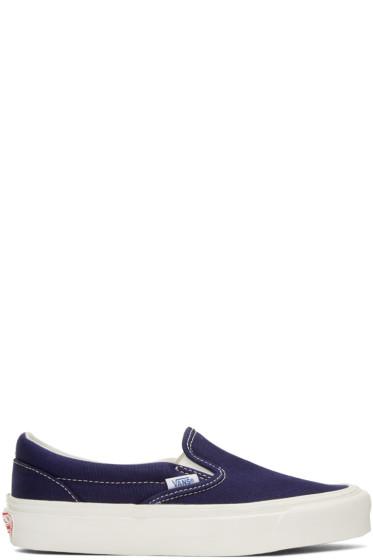 Vans - Navy OG Classic LX Slip-On Sneakers