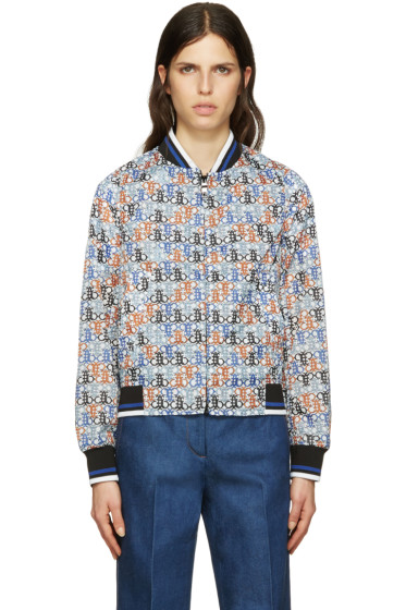 Emilio Pucci - White Printer Bomber Jacket