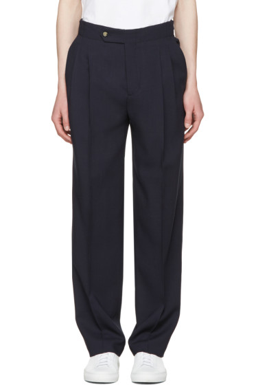 Éditions M.R  - Navy High Waist Trousers