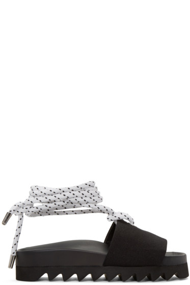 Joshua Sanders - Black Sailor Slide Sandals