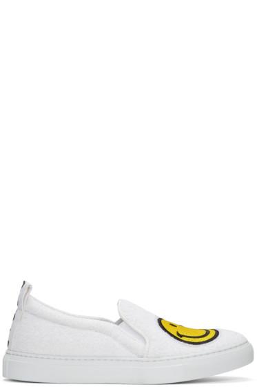 Joshua Sanders - White Smile Slip-On Sneakers