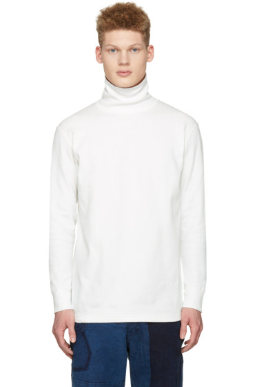Blue Blue Japan - Ecru Rib Turtleneck
