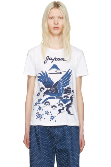 Blue Blue Japan - ホワイト ホーク T シャツ