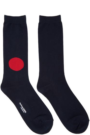 Blue Blue Japan - Navy Japan Flag Socks