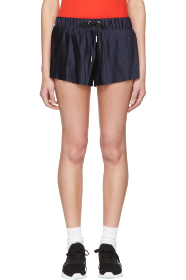 adidas Originals - Navy adicolor Pleated Shorts