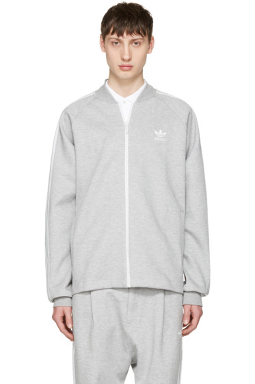 adidas Originals - Grey SST Premium Zip Sweater
