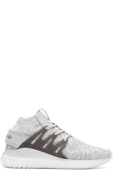 adidas Originals - Grey Tubular Nova PK High-Top Sneakers